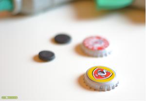 Aimants personnalisés avec des capsules
