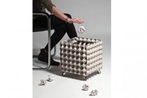 Corbeille à papier en boîtes à oeufs