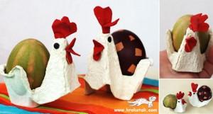 Pour le en carton pour Pâques avec boîte à oeufs
