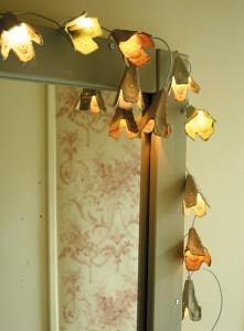 Guirlande lumineuse avec boîte à oeufs