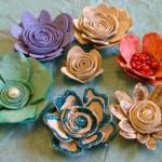 Fleurs avec boîte à oeufs