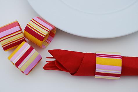 Ronds de serviette en rouleau de papier toilette