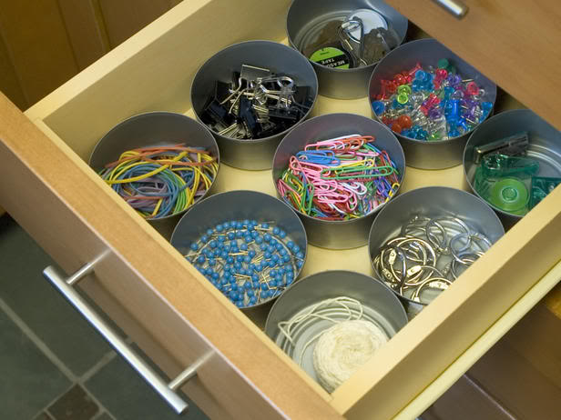 DIY - rangements tiroirs en boîtes de conserve recyclées