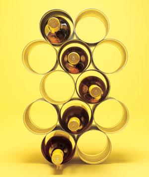 DIY - Porte bouteilles en boîtes de conserve recyclées