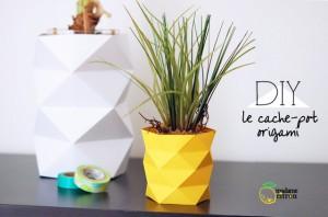 Cache-pot origami en papier