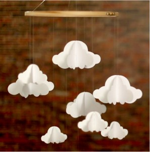 Mobile nuages diy