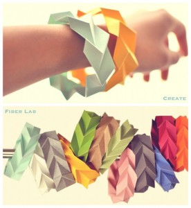 Bracelet en papier diy