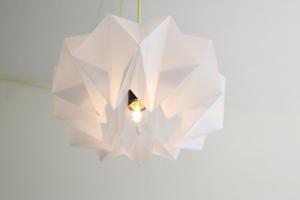 lampe en papier tutoriel