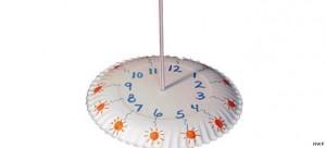 Cadran solaire assiette en carton