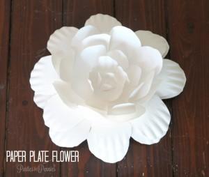 Fleur assiette en papier