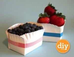 Panier à fruits - assiette en carton