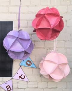 Boule décorative assiette en carton