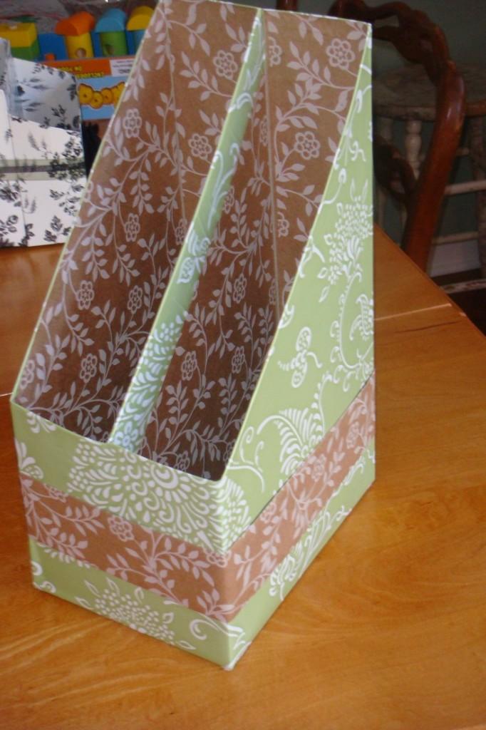 Porte-revue boîte de céréales