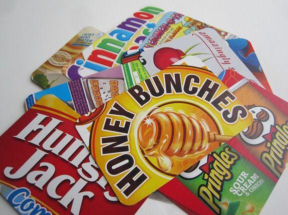 Cartes postales boîtes de céréales