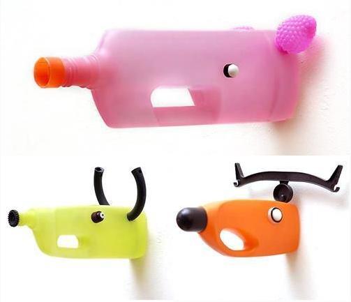 Bouteille en plastique mur animaux