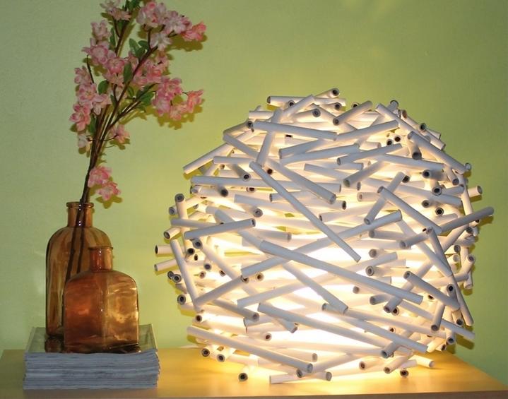 Lampe journal DIY