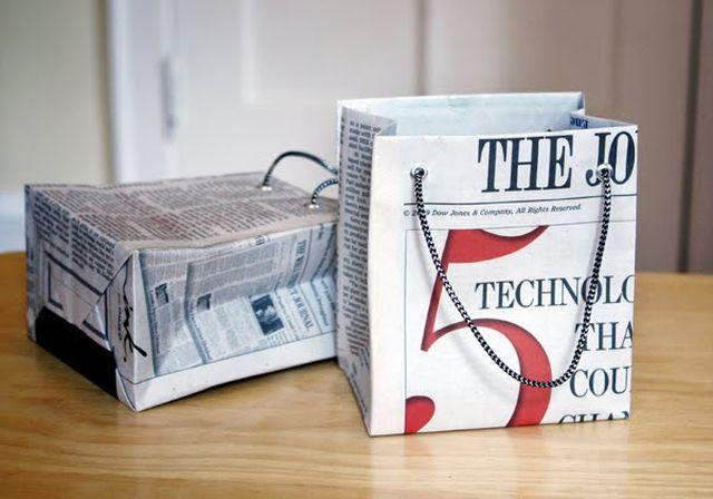 Panier journaux DIY