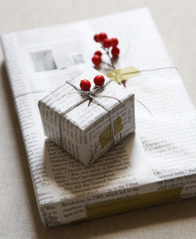 Papier cadeau journal