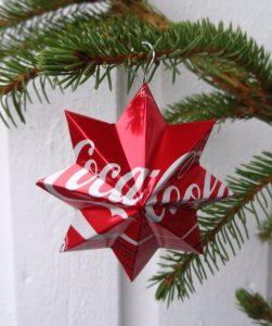 Boule de Noël étoile en canette
