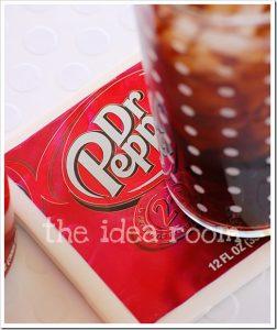 Sous-verre canette de soda