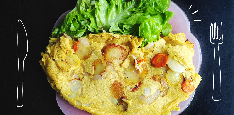 Omelette vegane de pois chiches